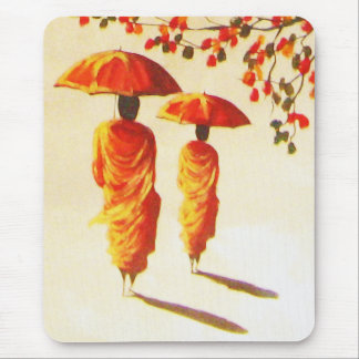 2 Laotian Buddhist Monks Mouse Pad