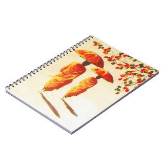 2 Laotian Buddhist Monks Spiral Notebook