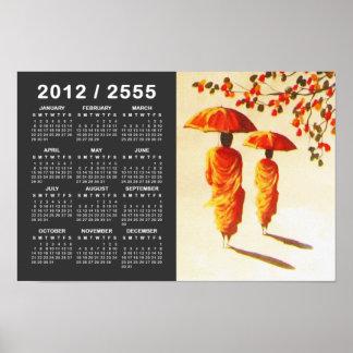2 Laotian Buddhist Monks Poster