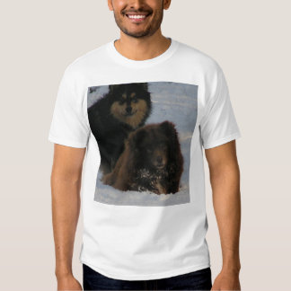 2 lapphunds in snow.png T-Shirt