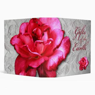 """2"""" Large Single Red Rose Binder"""