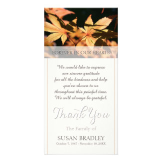 2 leaves in Autumn Sympathy Thank You Card