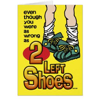 2 Left Shoes Card