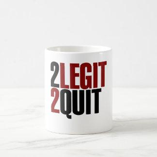 2 Legit 2 Quit Funny 80s Coffee Mug