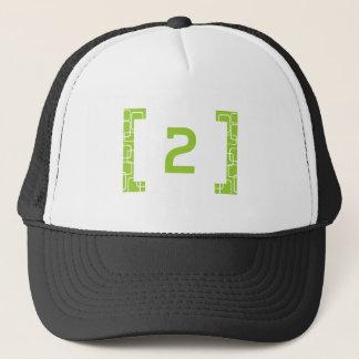 #2 Lime Green Trucker Hat