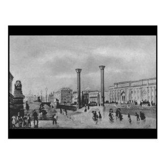(2) Lime Street / Saint George's Hall, 1857 Postcard