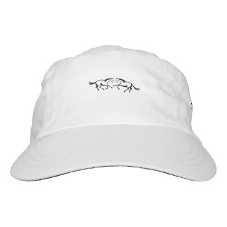 2 Line drawing horses meet to a heart shape Headsweats Hat