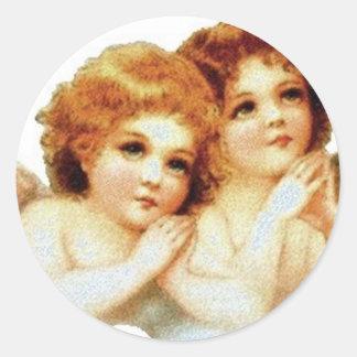 2 Little Angels Praying - Sticker