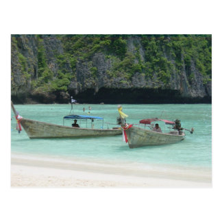 2 Longtail boats - Phi Phi Islands, Thailand Postcard