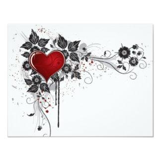 2 love vectors 4.25x5.5 paper invitation card
