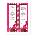 2 lunares rosados de la mamá de la MOD de las marc Tarjeta Postal