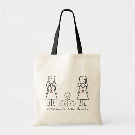 2 mamáes son mejores de 1 bolsa tela barata
