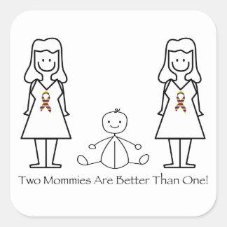 2 mamáes son mejores de 1 colcomania cuadrada