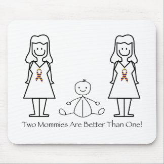 2 mamáes son mejores de 1 tapete de ratones