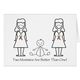 2 mamáes son mejores de 1 tarjetas