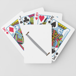 2 Man Saw Bicycle Playing Cards