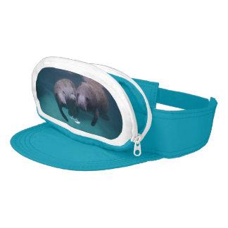 2 Manatee Friends cap sac visor