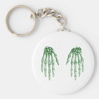 2 manos abajo se ponen verde llavero redondo tipo pin