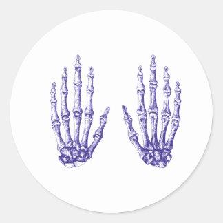 2 manos suben el azul pegatina redonda