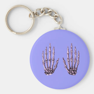 2 manos suben púrpura llavero redondo tipo pin