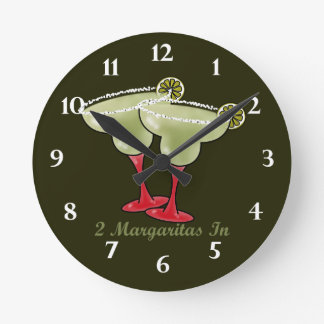 2 Margaritas In Round Clocks