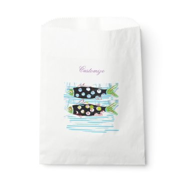Beach Themed 2 migrating fish Thunder_Cove any color Favor Bag