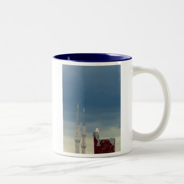 2 Minarets & Seagull Two-Tone Coffee Mug