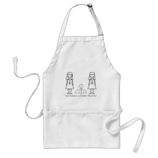 2 Moms Are Better Than 1 Adult Apron