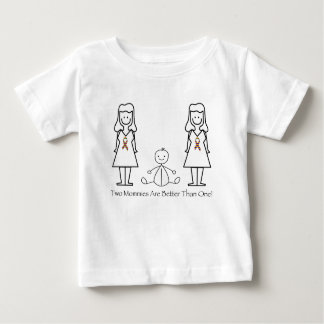 2 Moms Are Better Than 1 Baby T-Shirt