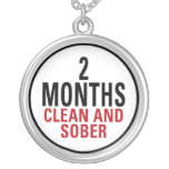 2 Months Clean and Sober Necklace