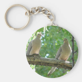 2 morning doves keychain