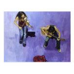 2 músicos de los jovenes postales