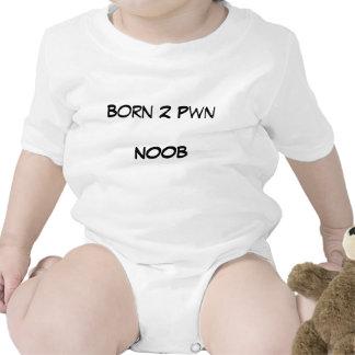 2 nacidos Pwn NOOB Traje De Bebé