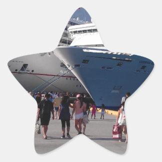 2 naves que sorprenden pegatina en forma de estrella