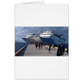 2 naves que sorprenden tarjeta de felicitación