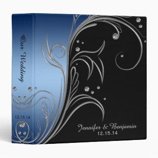 #2 Navy Blue Gradient Black Silver Scrolls Album Binder