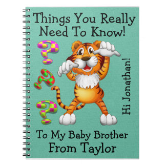 #2 New Big Brother / Sister - Notes to the Baby Spiral Notebook