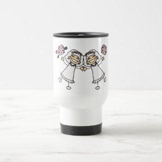 2 novias taza de café