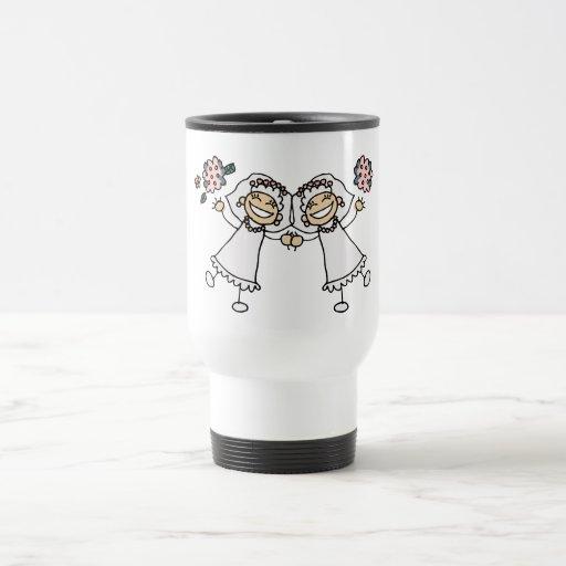 2 novias taza de viaje de acero inoxidable