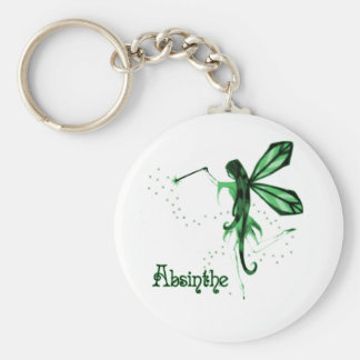 2 o Bosquejo de hadas verde del ajenjo Llaveros Personalizados