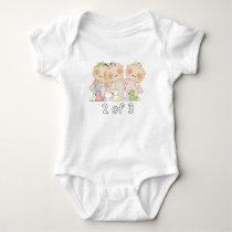 2 of 3 Triplet Cuties Baby Bodysuit