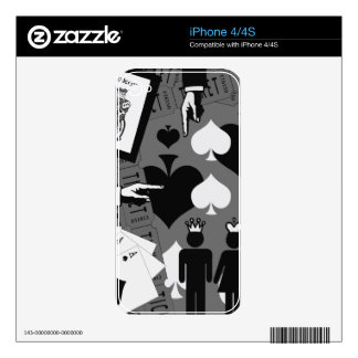 2 of a kind black and white decal for iPhone 4S