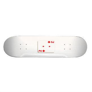2 of Diamonds Playing Card Skate Board