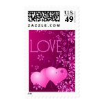 2 of Hearts Love Postage Stamp