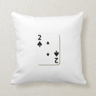 2 of Spades Playing Card Throw Pillow