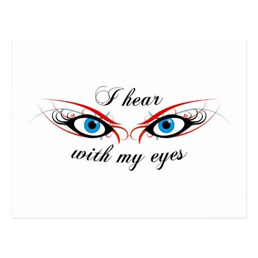 2 OJOS que oigo con mi postal de los ojos