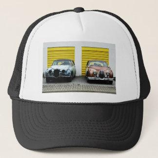 2 old cars trucker hat