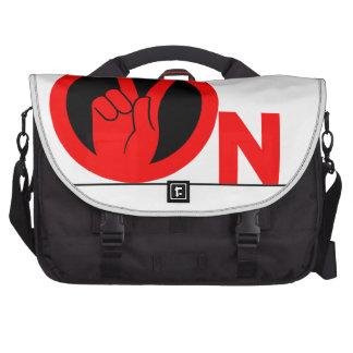 2 on laptop bag