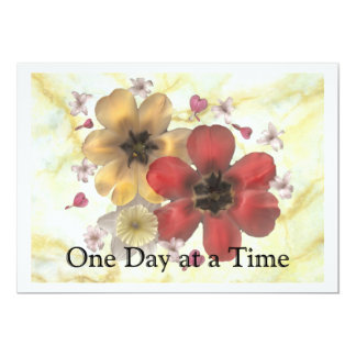 2 One Day at a Time 5x7 Paper Invitation Card