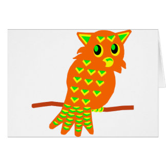 2-Orange Owl Card